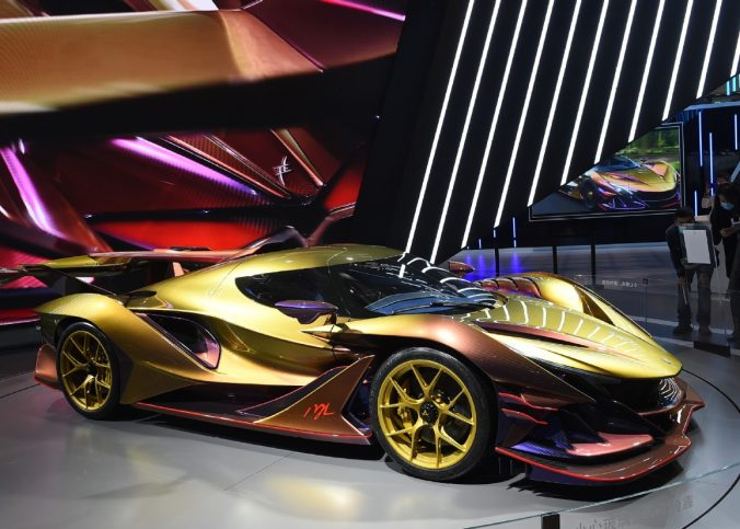 An Apollo Intensa Emozione car on display during the 3rd China International Import Expo in Shanghai (photo source: Xinhua)